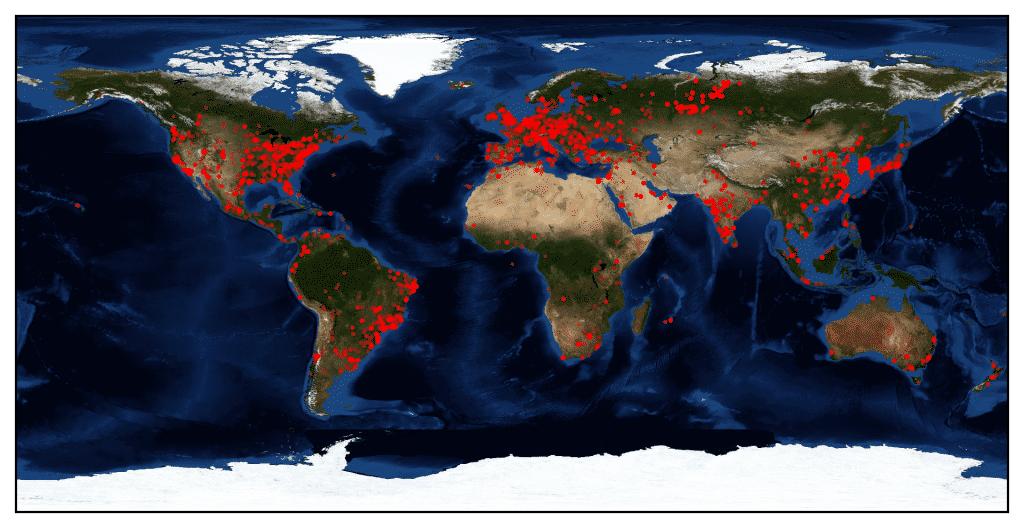 Bitdefenders Heatmap stellt die derzeitige Verbreitung des neuen Botnetzes dar.