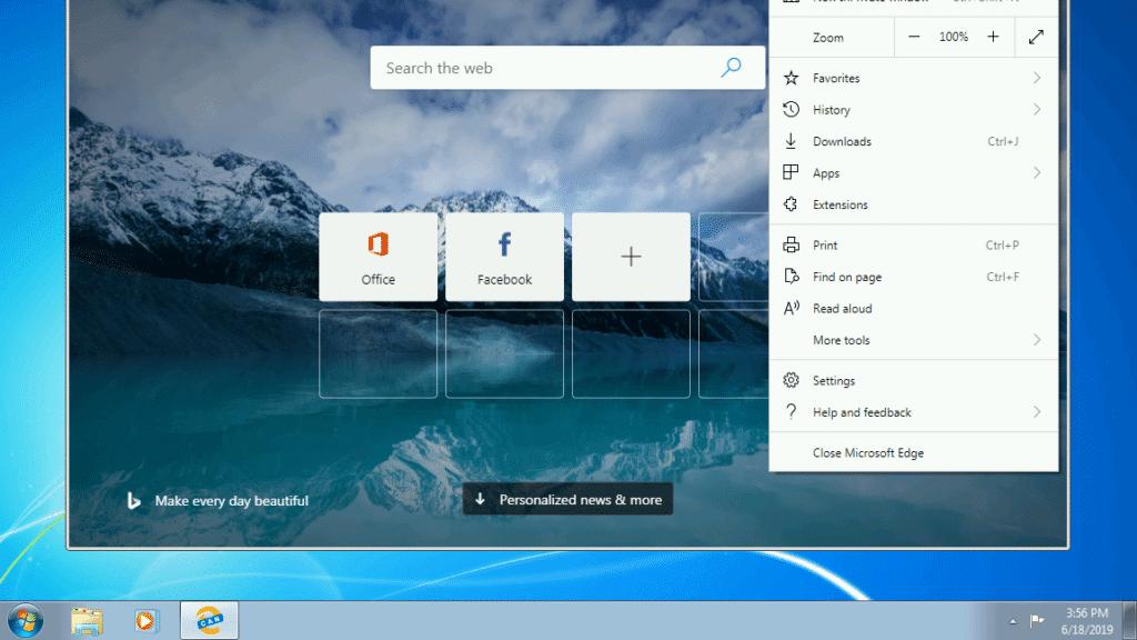 Neuer Edge-Browser für Windows 7 und 8 erschienen