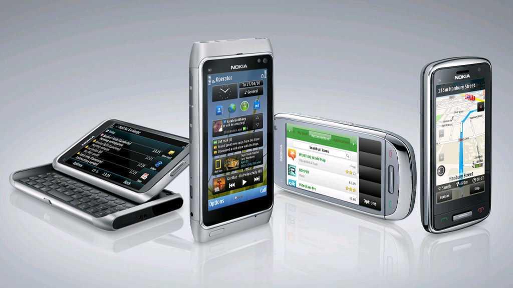 Nokias auf der Nokia World vorgestellte Symbian^3-Smartphones