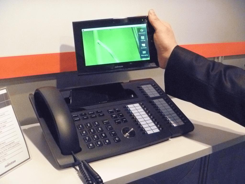 Festnetztelefon mit Tablet-PC