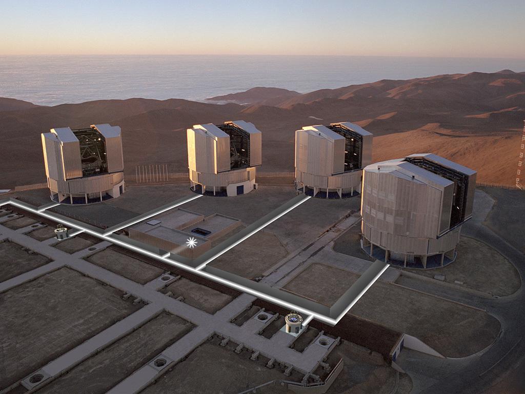 Die Entdeckung gelang mit dem zusammengeschlossenen VLT Interferometer.