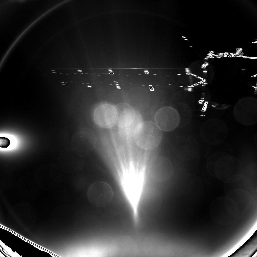 Beim ersten Bild des abgetrennten Philae ist weniger wichtig, was zu sehen ist, als dass etwas zu sehen ist.
