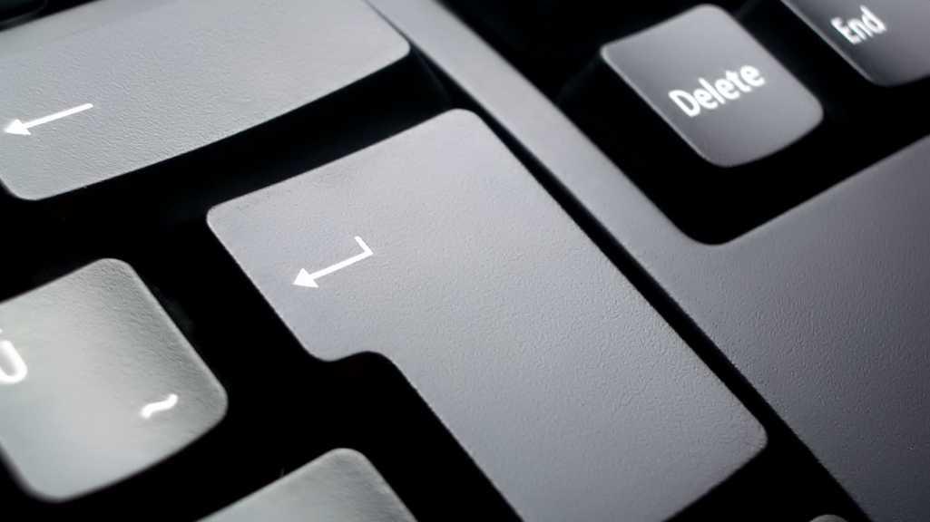 Tastatur, Enter, Programmieren