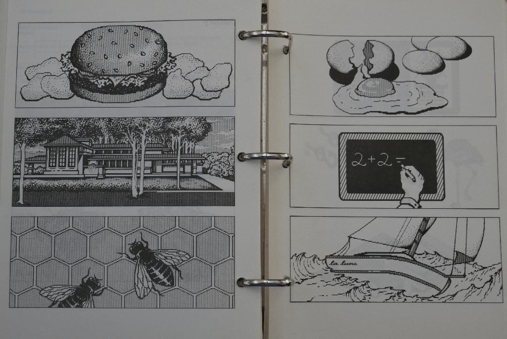 """Aus dem Handbuch für Windows 1.0 von 1985: """"Malvorlagen"""""""