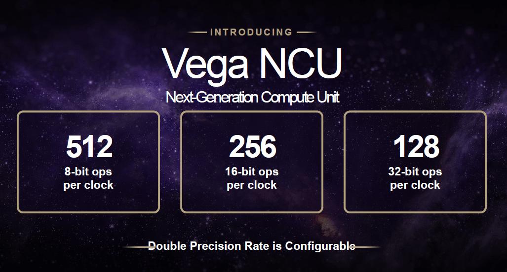 Die neuen Next-Gen Compute Units führen doppelt so viele fp16-Operationen (Half Precision) pro Takt aus wie fp32 (Single Precision) und eignen sich daher besonders gut für Deep-Learning-Anwendungen.