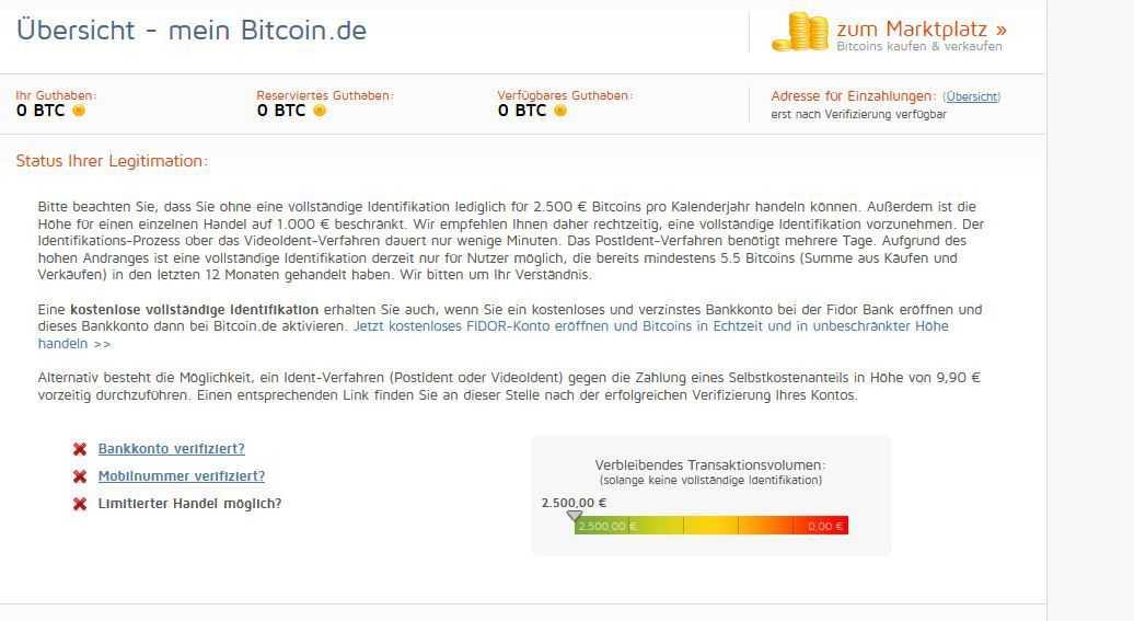 Passierschein A38: Wer Bitcoins kaufen will, muss einige Verifikationshürden überwinden.