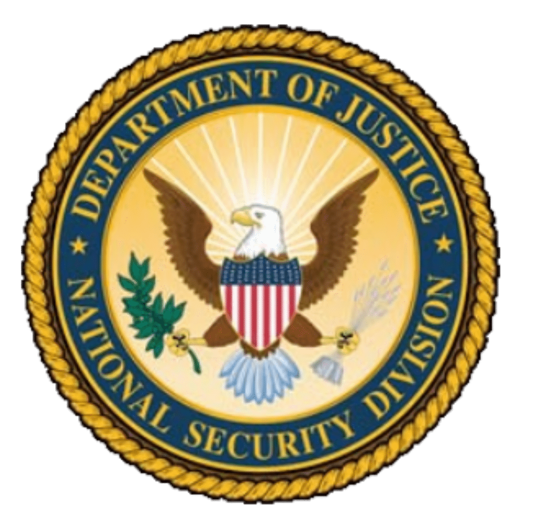 Wappen US Department of Justice - National Security Division