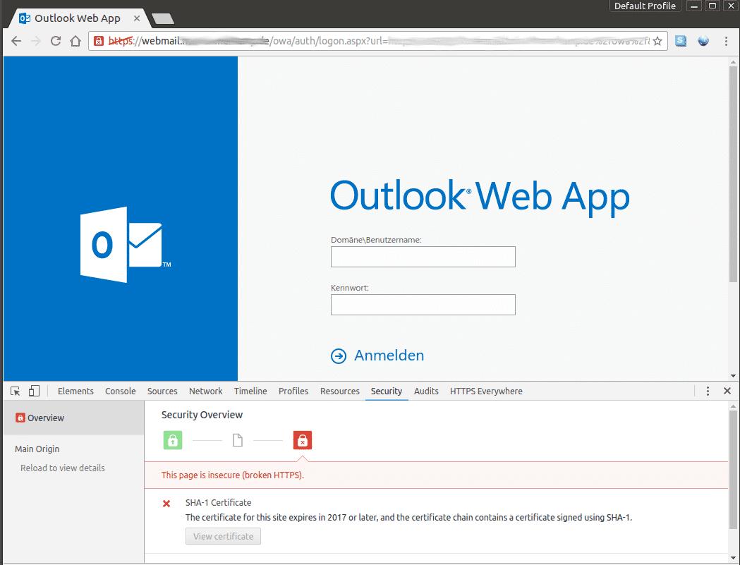 Bisher gibt es nur Warnungen -- ab Januar wird es ernst: da präsentieren alle Browser Fehlermeldungen, wenn sich eine Web-Seite mit einem SHA-1-Zertifikat ausweist.