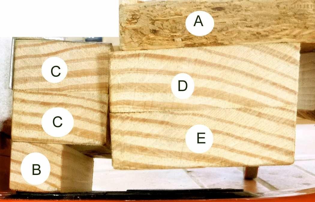 Übersicht Holzteile Hoverboard-Seifenkiste