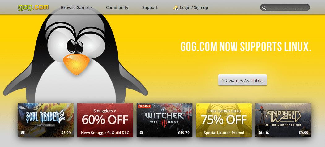 gog.com unterstützt jetzt Linux