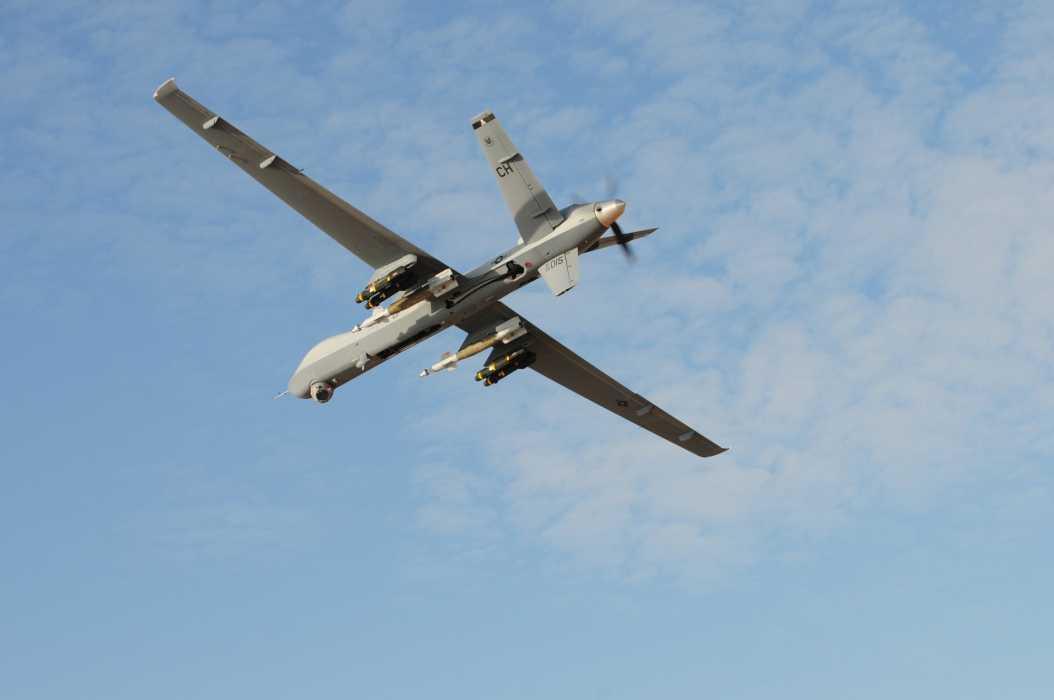 Eine bewaffnete Drohne des Typs MQ-9 Reaper