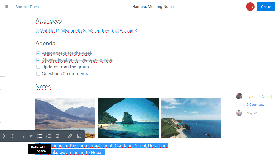 Dropbox Paper als Alternative zu Google Docs