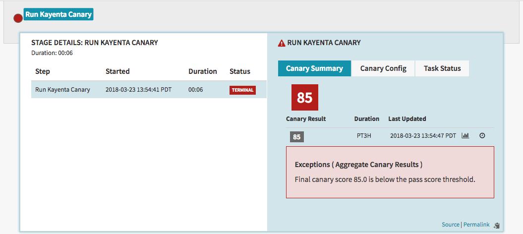 So sieht kann dann das Ergebnis einer Überprüfung mit Hilfe von Kayenta aussehen. (Bild: Google)