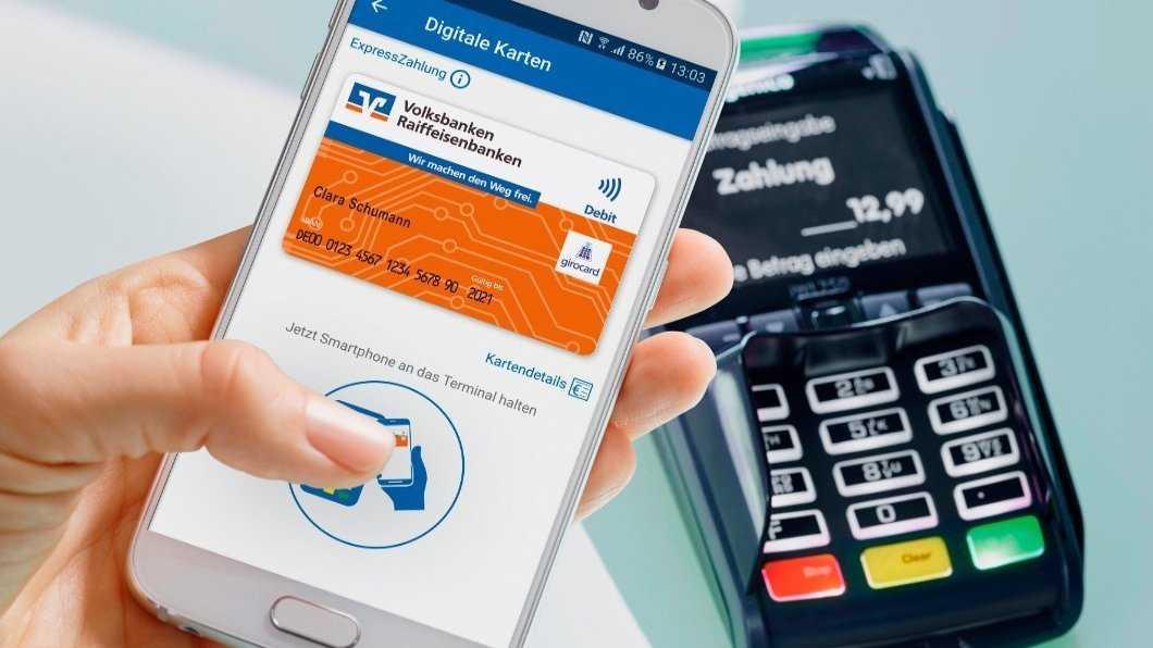 Kontaktloses Bezahlen für alle Karten der Volks- und Raiffeisenbanken