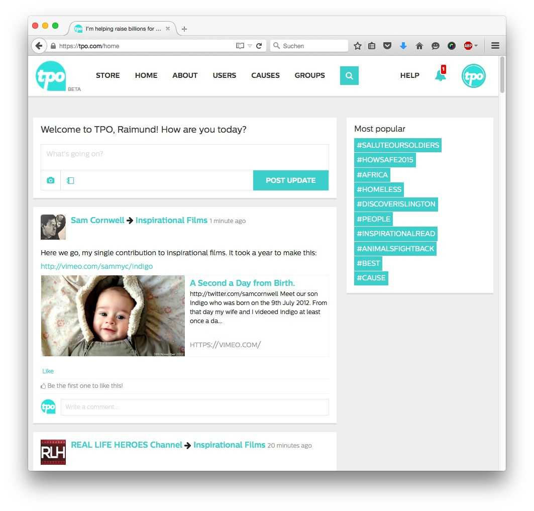 Die neue Social Media Plattform ist noch in der BETA-Phase.