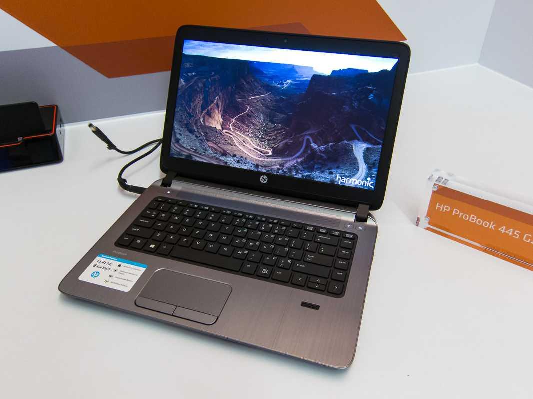 Auf der Computex zeigte AMD ein HP ProBook 445 G2 mit A6 PRO-7050B.