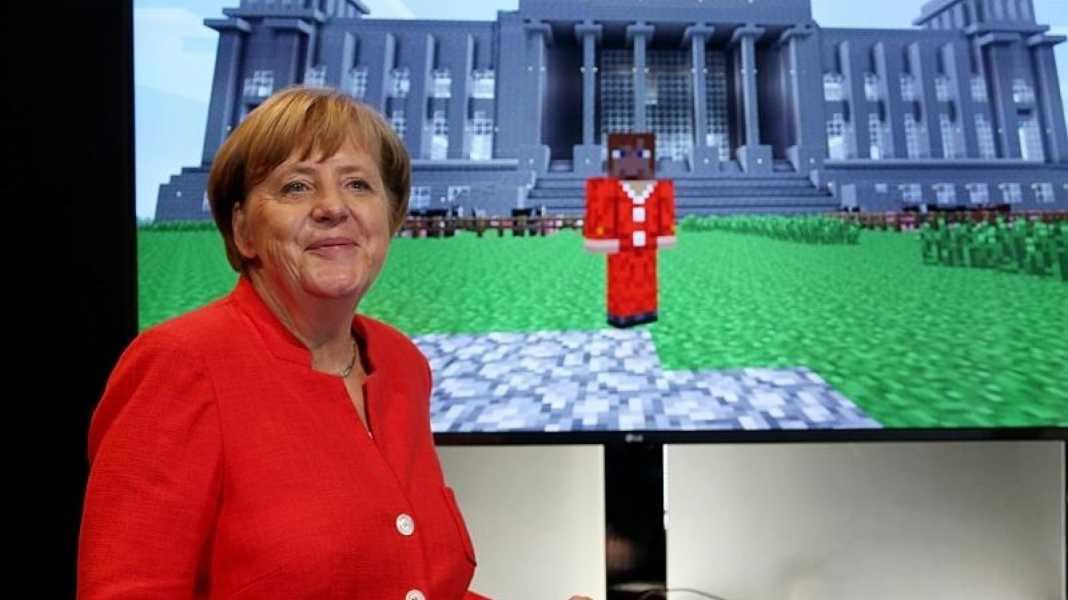 Trotz rotem Hosenanzug bei Minecraft: Deutschland macht laut EU-Kommission keine gute Figur bei der Digitalisierung.(Bild:dpa, Oliver Berg)
