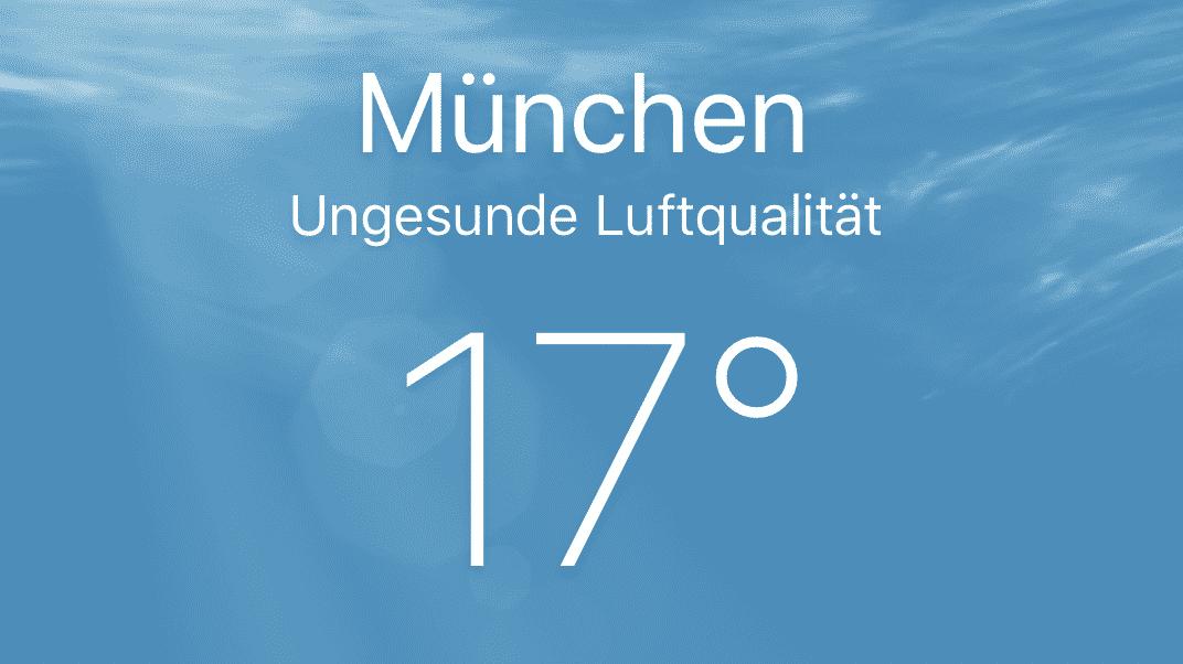 Wetter-App iOS 12