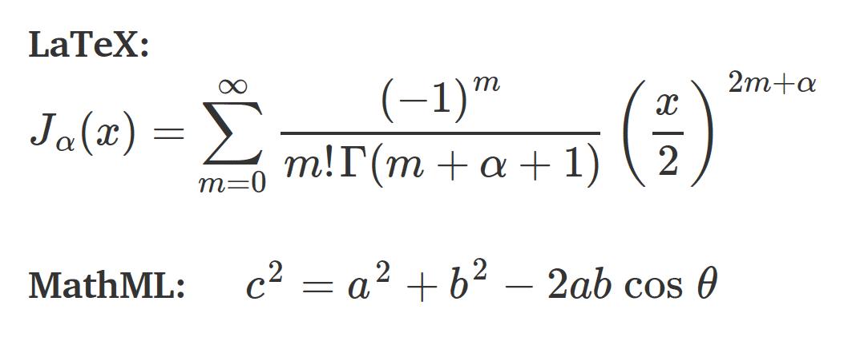 Abb. 1: Mit MathJax im Browser gerenderte Formel