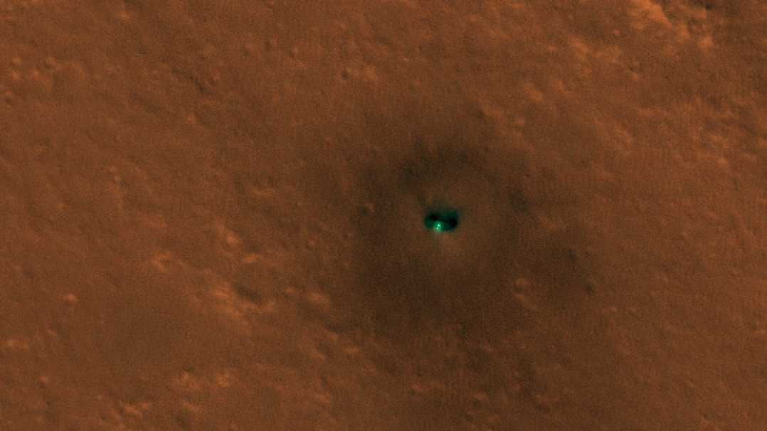 NASA-Sonde Insight aus dem Orbit fotografiert