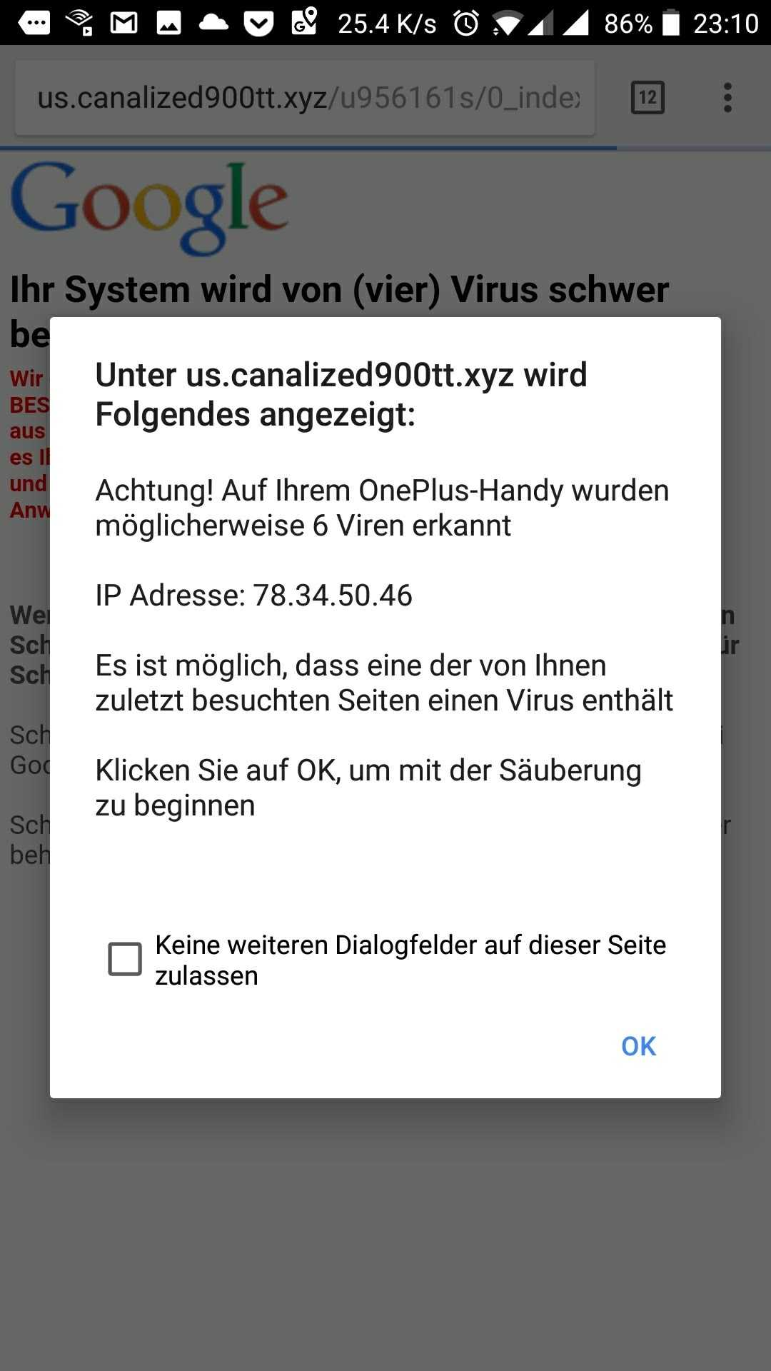 Chrome blockt unerwünschte Redirects