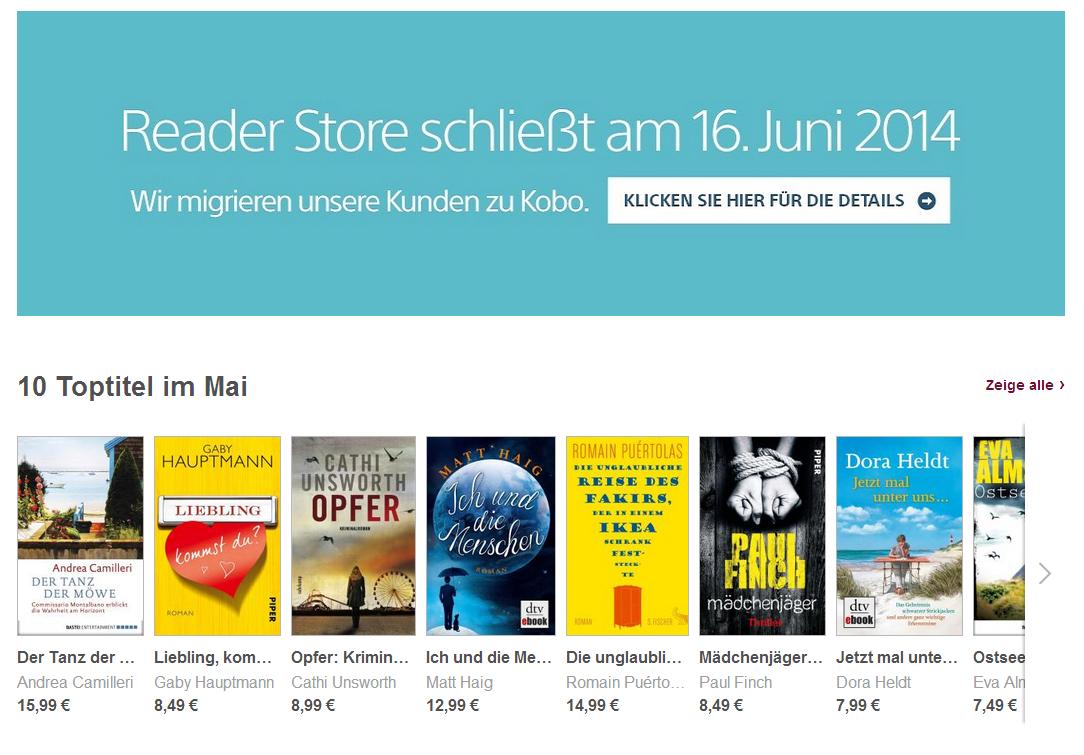 Sony schließt E-Book-Store: Ende der Sony Reader in Sicht?