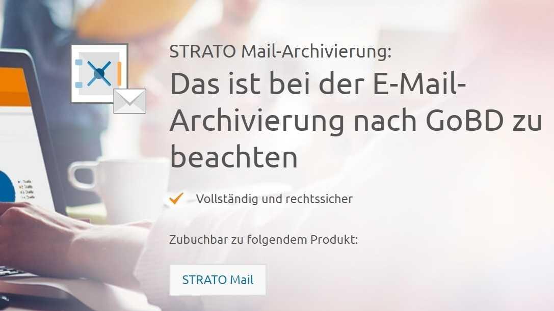 Strato startet Service für rechtssichere Mail-Archivierung