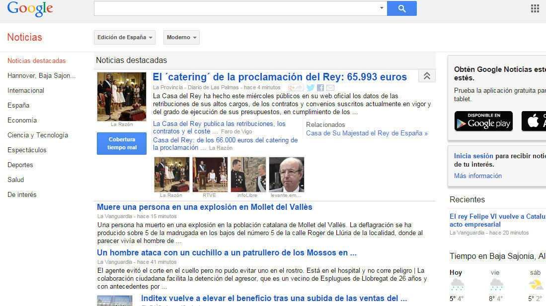 "Wegen ""Google-Gebühr"": Google News wird in Spanien geschlossen"