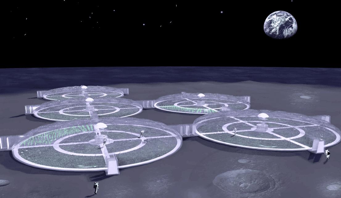 Erweiterbare Mondstation