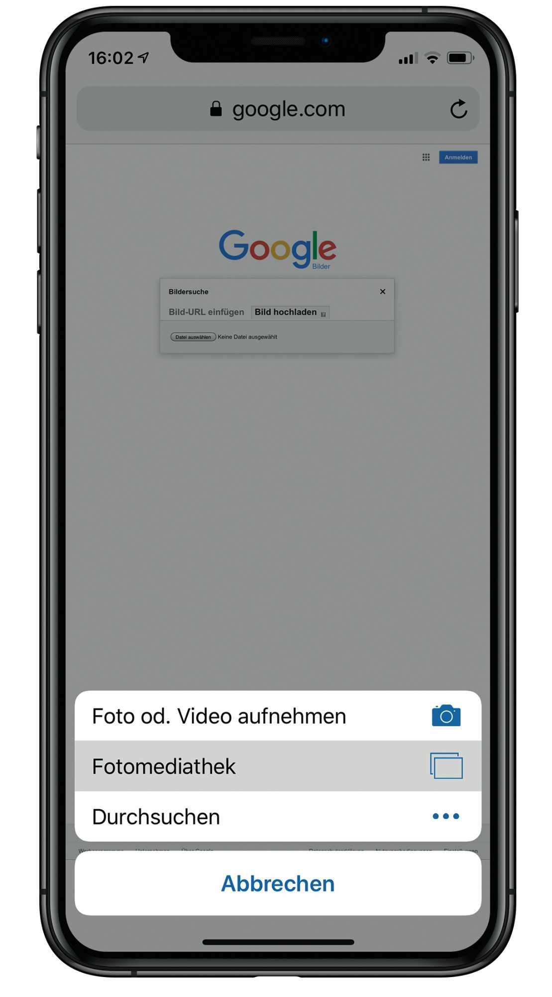 Google bilder hochladen suchen handy