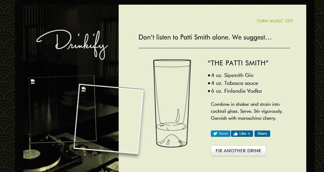 Webtipps: Zutaten-Datenbanken und der passende Drink zum Song