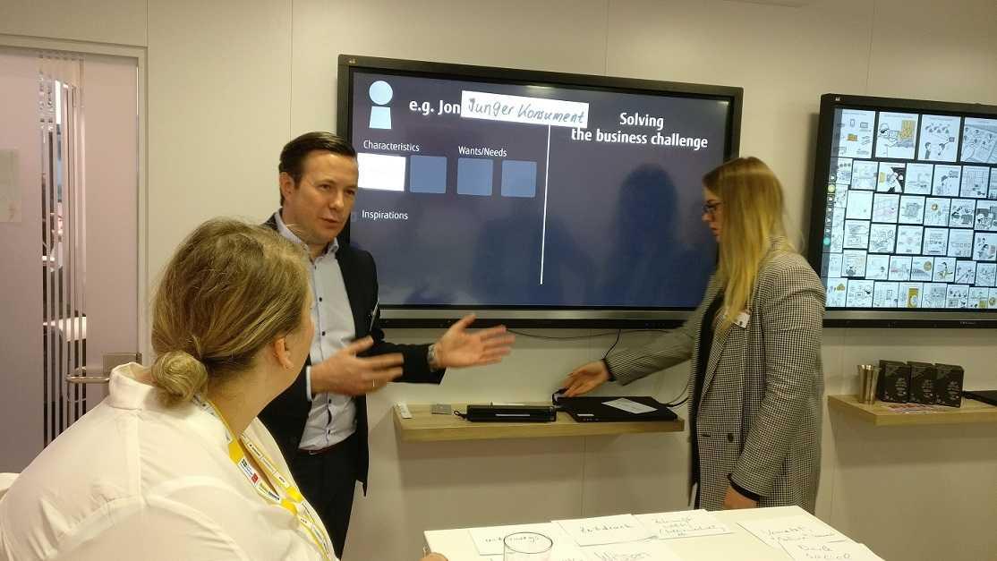 Co-Creation bei Fujitsu: In einem ersten Schritt werden Personas, idealtypische Anwender beschrieben.