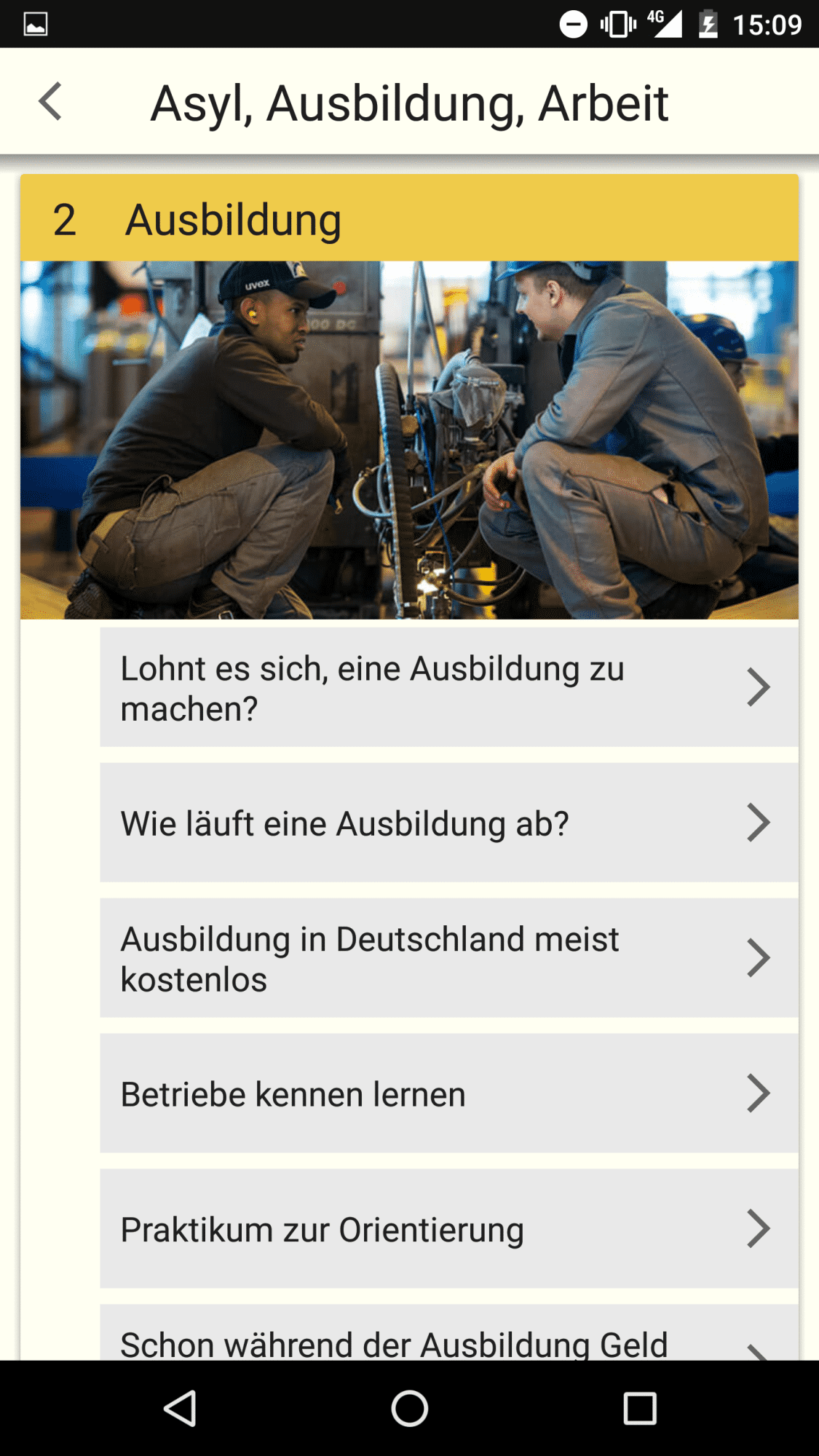"""Die App """"Ankommen"""" unterstützt Flüchtlinge und beantwortet die wichtigsten Fragen."""