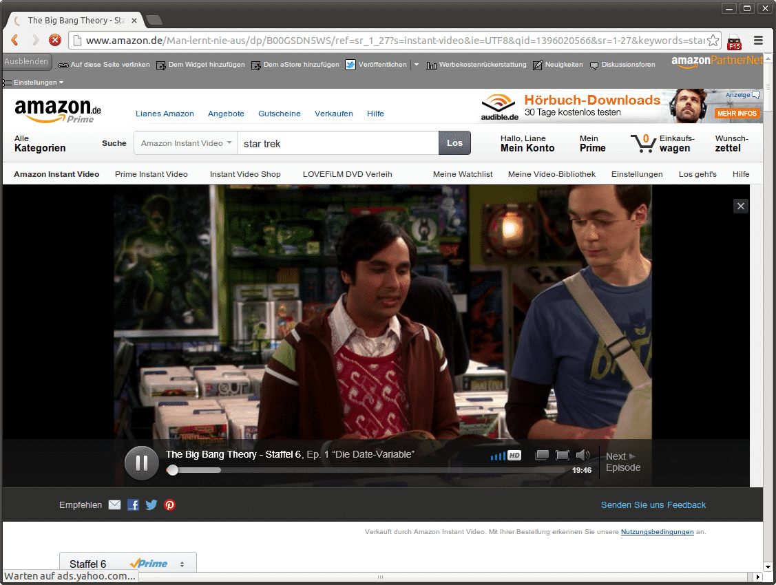 Amazon Prime Instant Video in Chrome