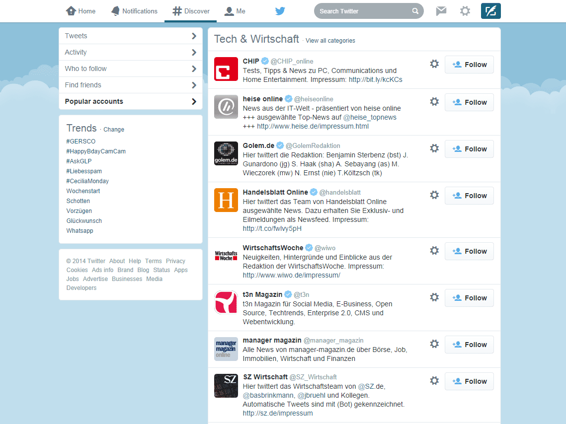 Relevantes Gezwitscher: Große News-Websites füttern Twitter mir ihren Nachrichten. Ein RSS-Reader ist deshalb überflüssig.