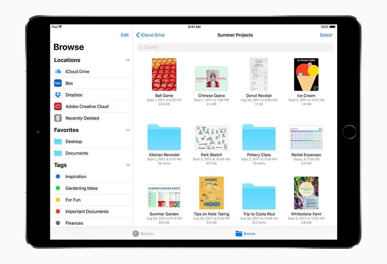 Neu auf iPhone und iPad mit iOS 11: Apples Dateien-App.