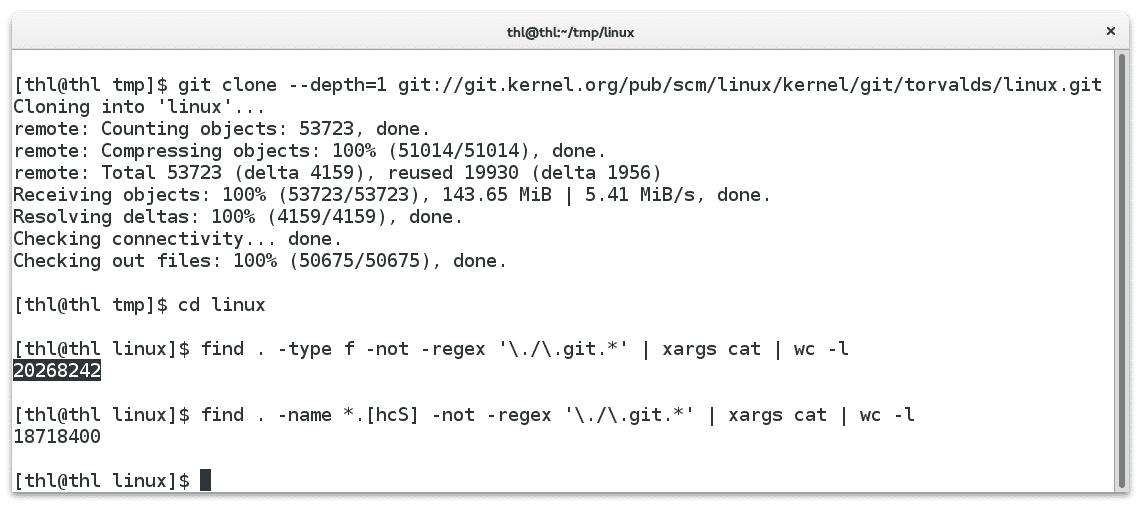 Bei Freigabe dieser Meldung umfassten die Kernel-Quellen bereits 20,2Millionen Zeilen Quellcode.