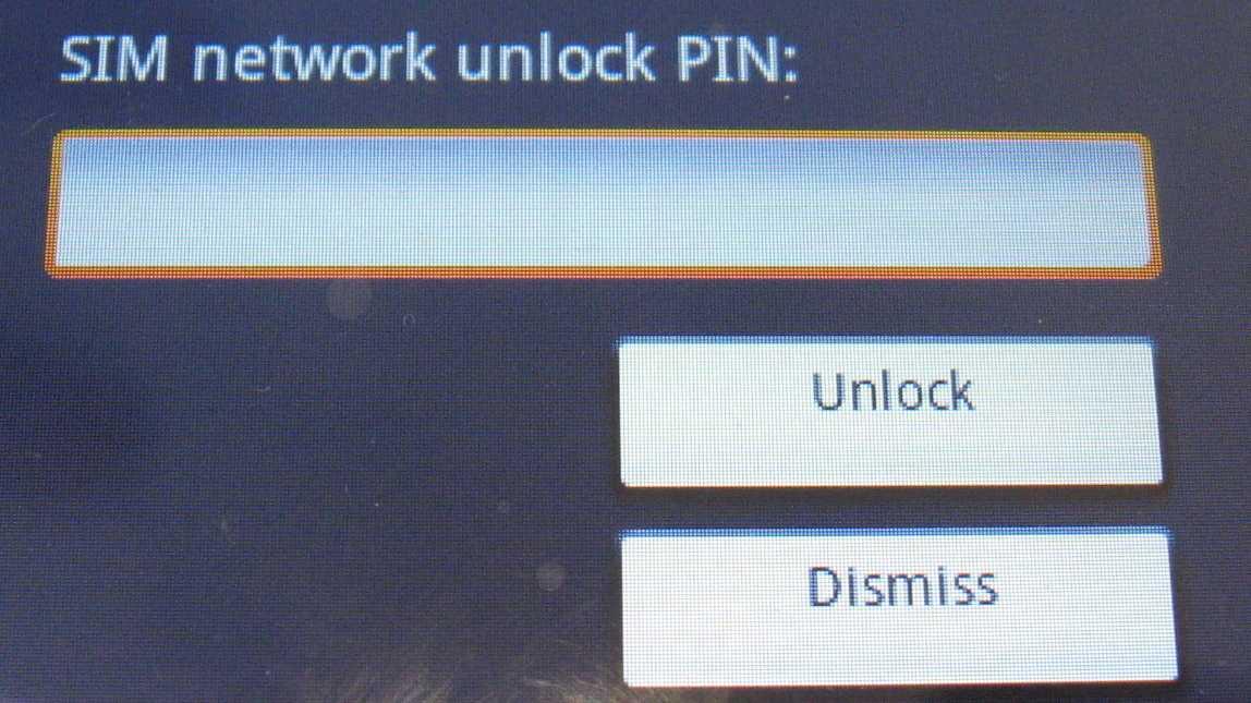 SIM-Lock-Dialogfenster