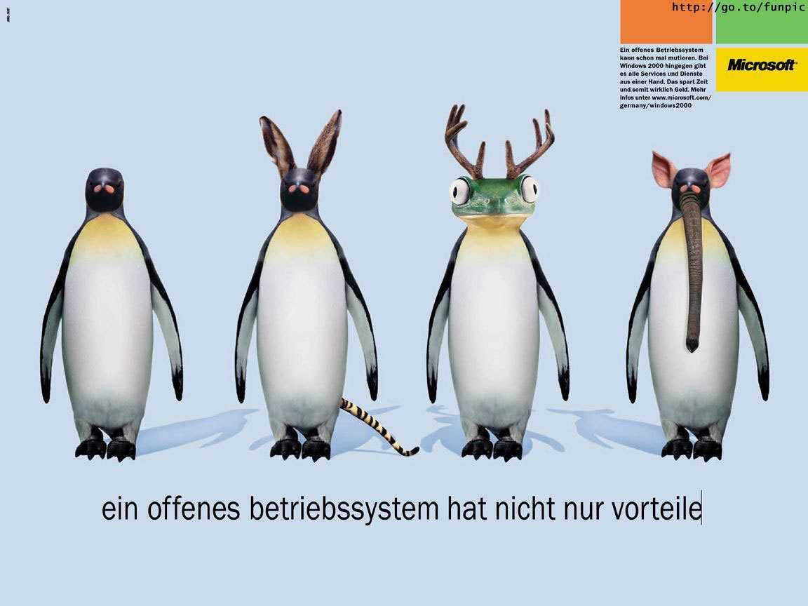 2001 schaltete Microsoft Anzeigen gegen Linux.