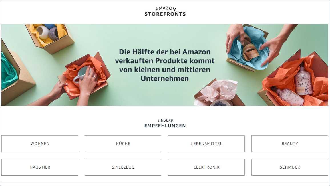 Amazon Storefronts: Neue Shop-Plattform für kleine Händler
