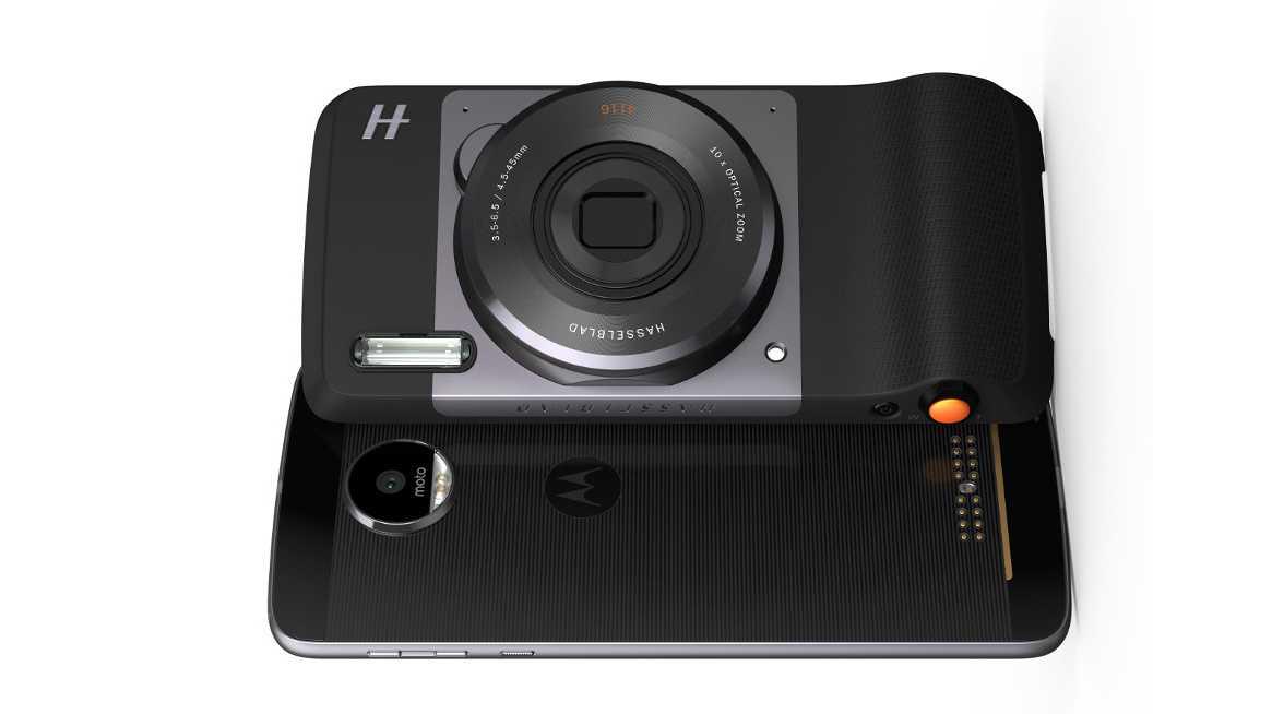 Details zum Hasselblad True Zoom-Modul für das Motorola Moto Z