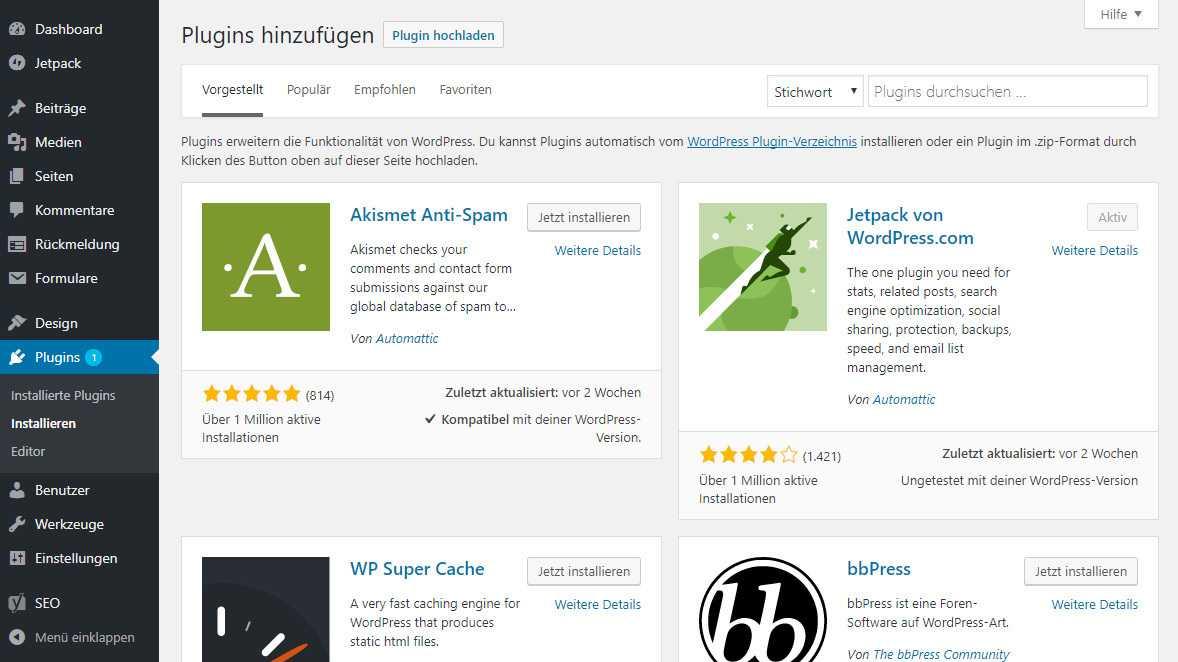 Dank zahlreicher Plug-ins ist WordPress ein echter Alleskönner.