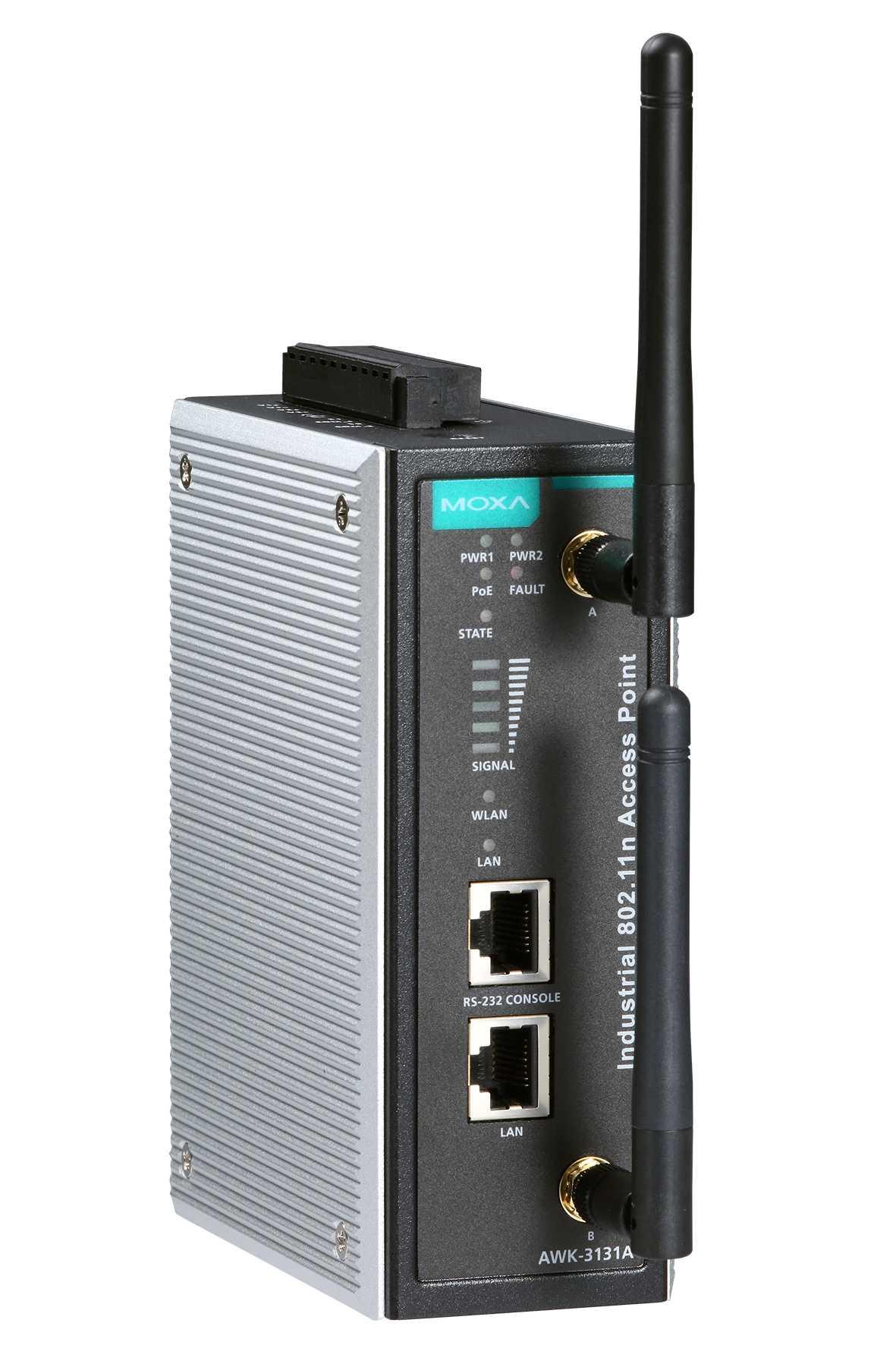 Moxas WLAN-Brücke funkt wahlweise im 2,4- oder im 5-GHz-Band gemäß der Funknorm IEEE 802.11n. Sie überträgt bis zu 300 MBit/s brutto.