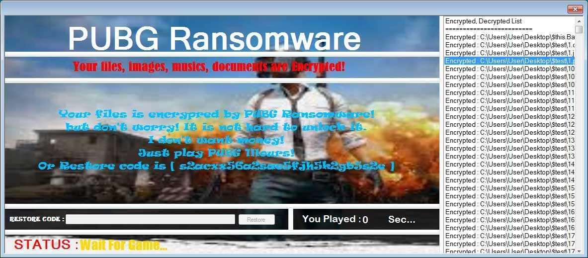Die Malware zeigt sogar an, wie lange man aktuell PUBG gespielt hat.