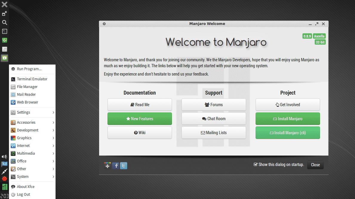 Manjaro Netbook Edition