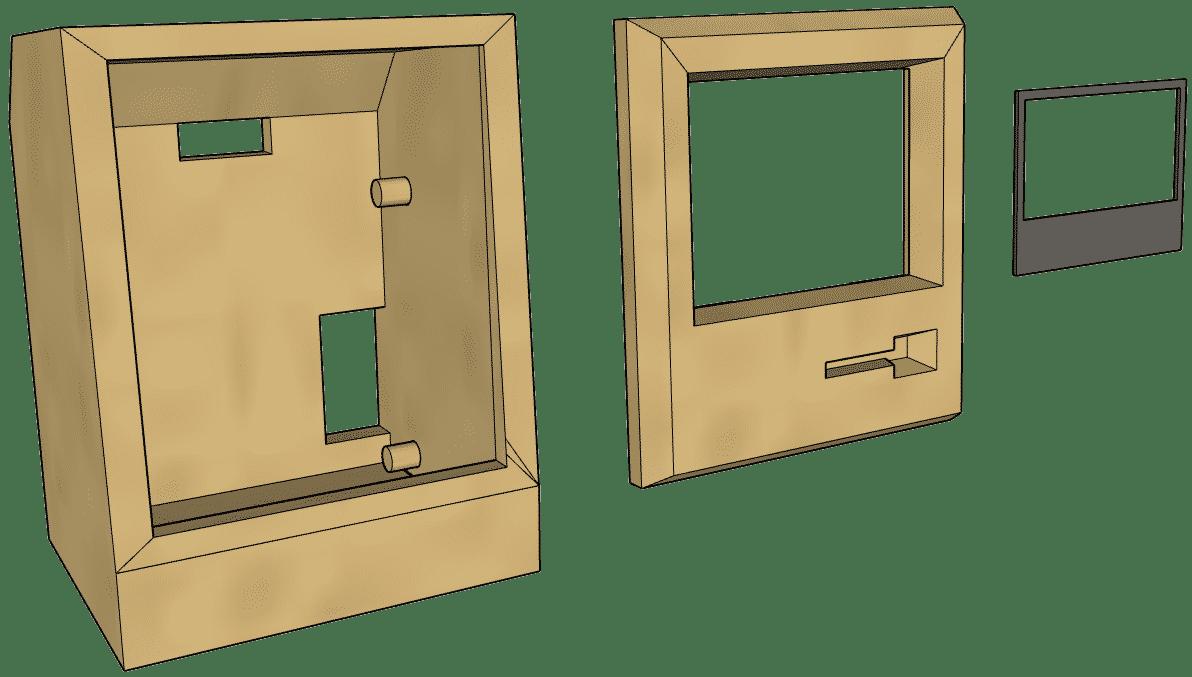 Die Gehäuseteile aus dem 3D-Drucker