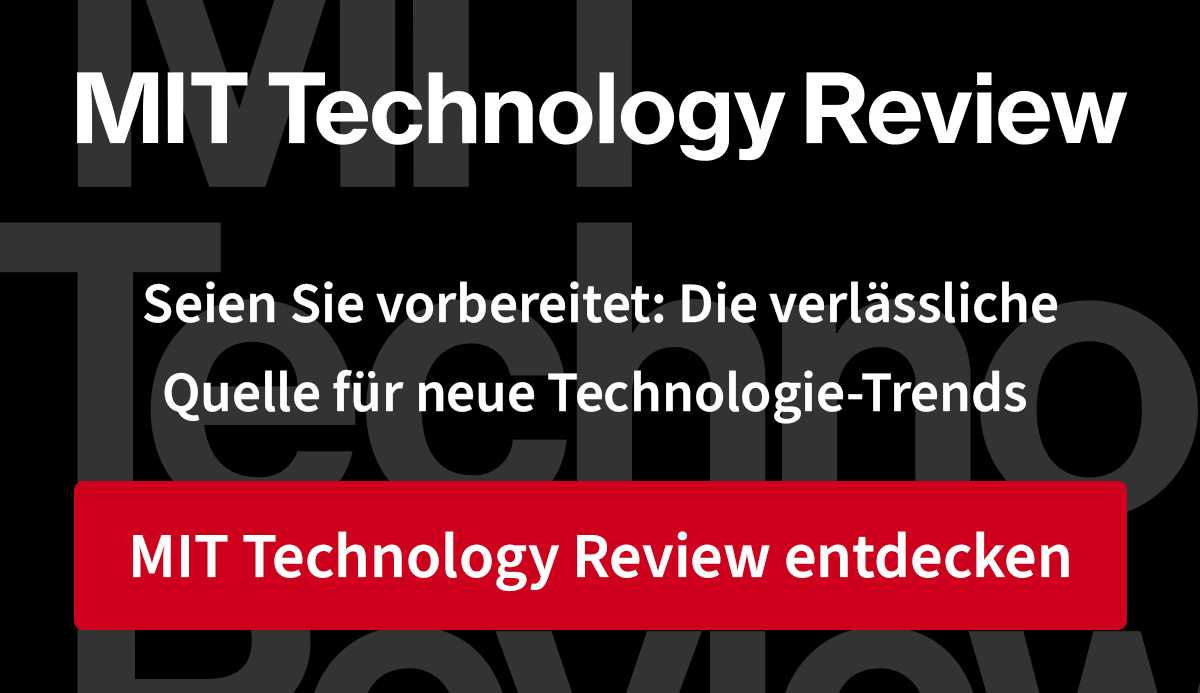 Mehr von Technology Review