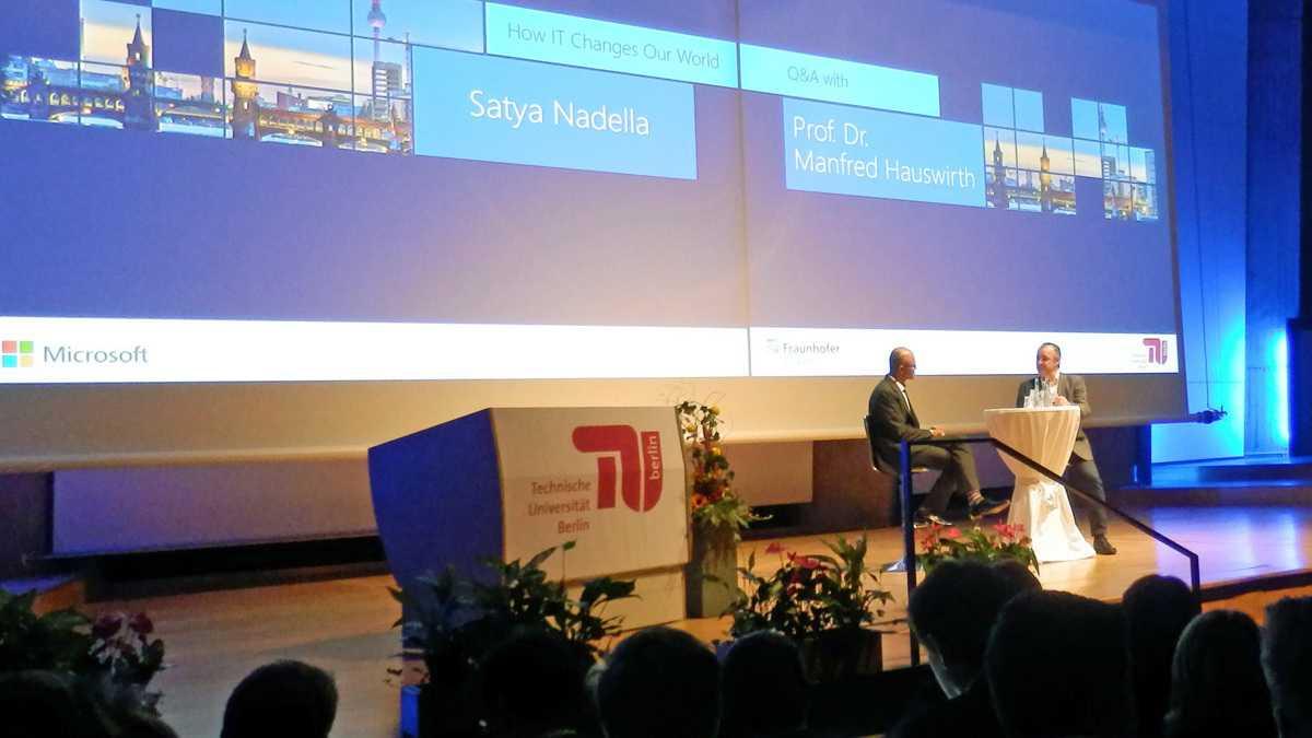 """Nadella an der TU-Berlin: """"Macht Fehler und lernt daraus"""""""