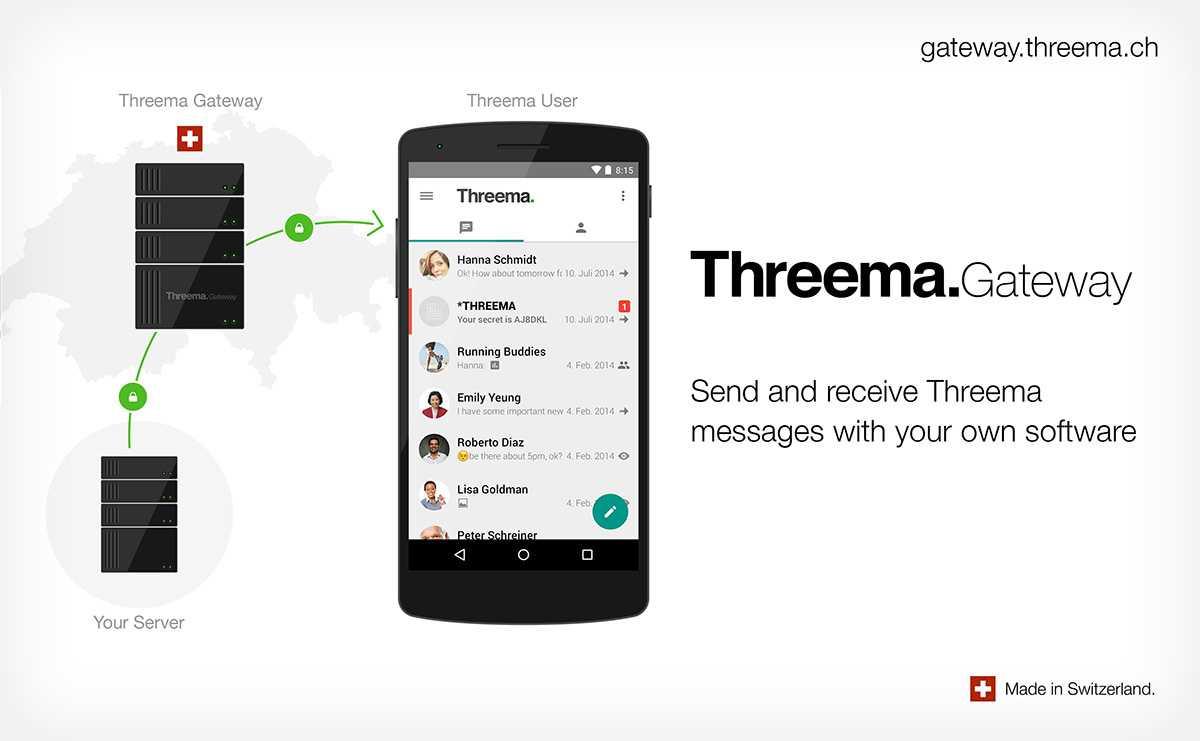 Threema Gateway ermöglicht Versenden selbst verschlüsselter Nachrchten