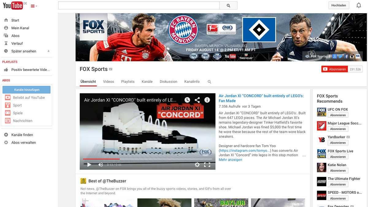 Bundesliga-Auftakt: US-Sender überträgt Bayern-HSV auf YouTube